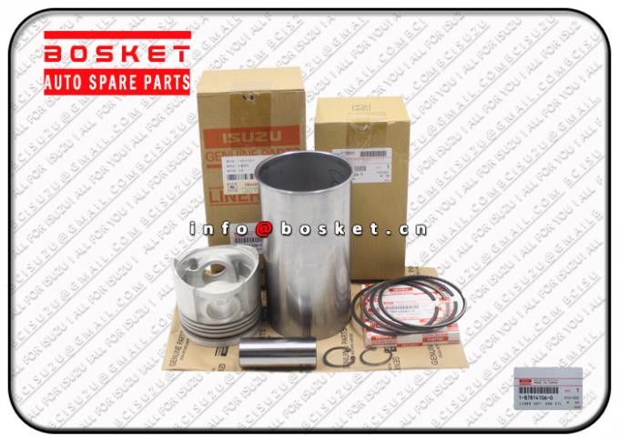 6BG1 Isuzu Liner Set 1878141060 1-87814106-0 Engine Cylinder Liner Kits
