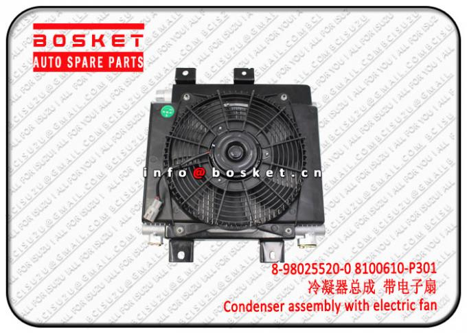 Isuzu 700P 4HK1 Condenser Assembly With Electric Fan 8980255200 8100610P301 8-98025520-0 8100610-P301 2