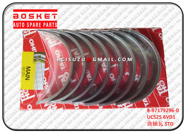China Genuine Isuzu Parts  UCS25 6VD1 8-97179296-0 8971792960 Crankshaft Metal Set factory
