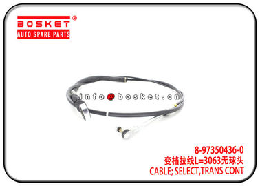 China ISUZU 4HG1 NPR MYY6P MYY5T 8-97350436-0 8973504360 Transmission Control Select Cable factory