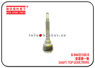 China 8-94435160-0 8944351600 Transmission Top Gear Shaft For ISUZU 4ZD1 TFR16 factory