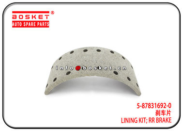 China ISUZU NKR 700P Rear Brake Lining Kit 5-87831692-0 5878316920 factory