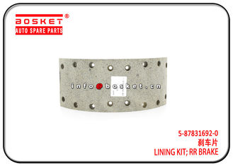 China 5-87831692-0 5878316920 Isuzu Brake Parts Rear Brake Lining Kit For 700P NKR factory