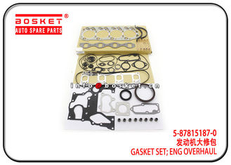 China 5-87815187-0 5878151870 Engine Overhaul Gasket Set For ISUZU 4JH1 TFR factory