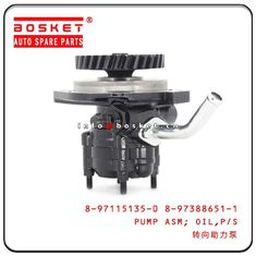 China Power Steering Oil Pump Assembly For ISUZU 4HF1 NPR 8-97115135-0 8-97388651-1 8971151350 8973886511 factory