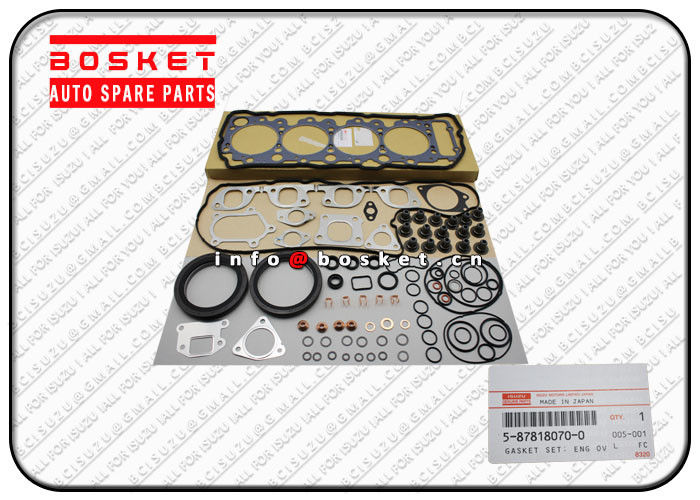 5-87818070-0 5878180700 Isuzu Cylinder Gasket Set Suitable for ISUZU NPR Parts supplier