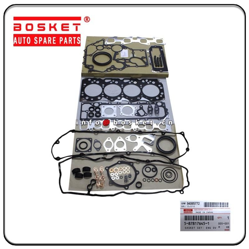 Engine Overhaul Gasket Set Isuzu Truck Parts 5-87817645-1 5-87816563-0 5878176451 5878165630 supplier