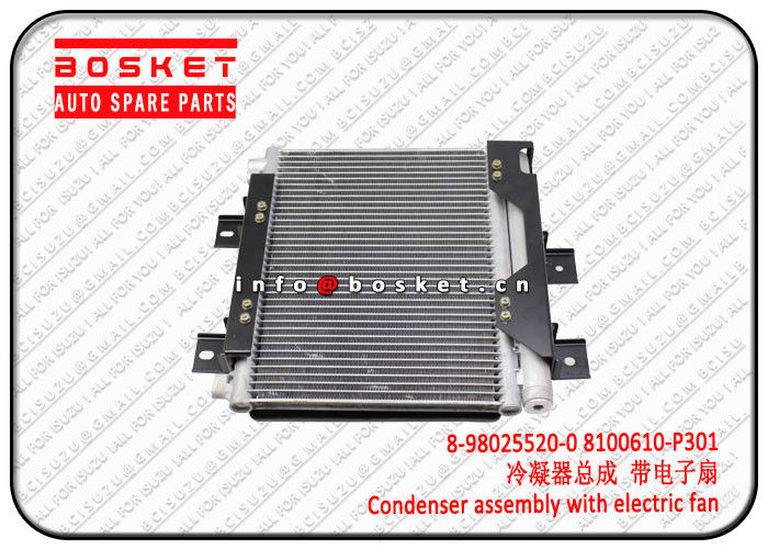 Isuzu 700P 4HK1 Condenser Assembly With Electric Fan 8980255200 8100610P301 8-98025520-0 8100610-P301 supplier