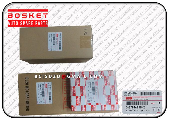 Engine Spare Parts Isuzu Liner Set For Nqr70 4HE1 1X 5878149190 5-87814919-0